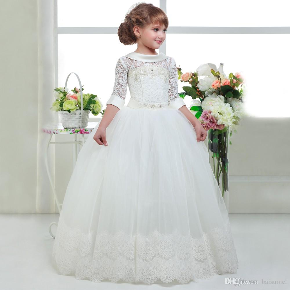 Compre Vestidos Elegantes De Las Primeras Muchachas De La Flor Para ...