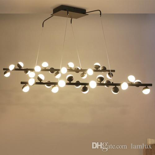Lamlux newest molecular design led pendant lamps nordic postmodern droplight magic beans personalized led chandeliers pendant lighting postmodern molecular