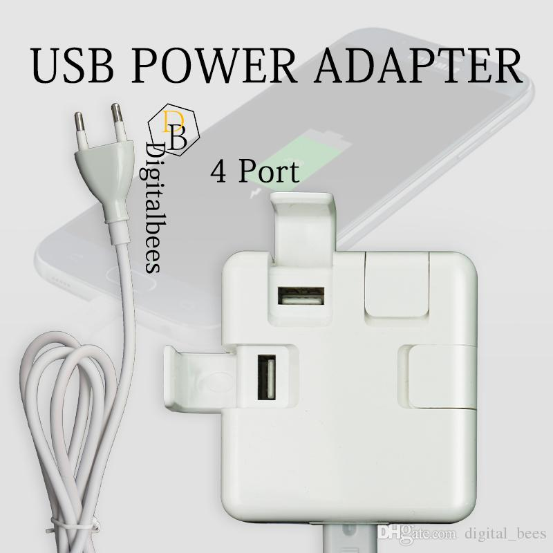 USB Power Adapter 4 port 3.1a Cellphone Holder Stand Fast Charging Portable Wall Charger For 7G 6G
