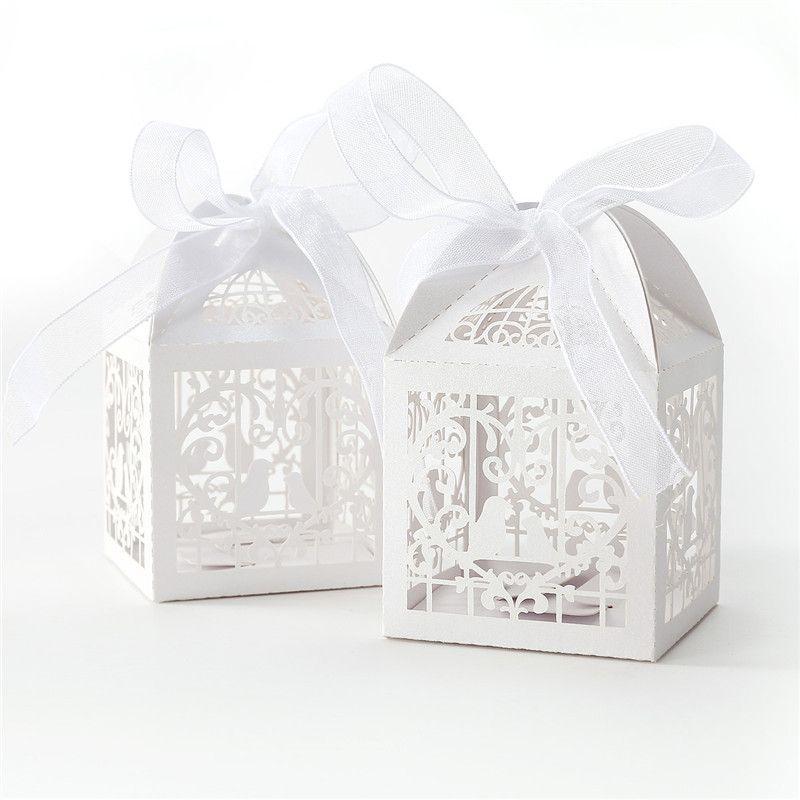 Wholesale Laser Cut Wedding Sweets Love Bird Wedding Favor Candy