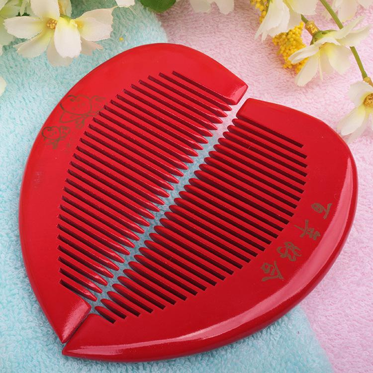 The heart-shaped comb big red wedding spot special offer two pack wedding wedding supplies wholesale