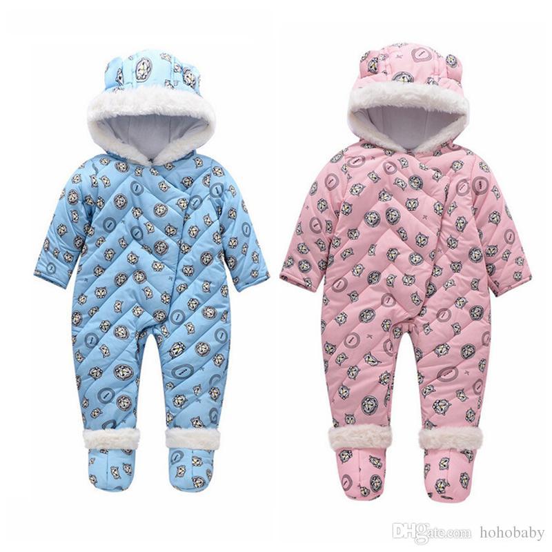 34a009796 ... Winter Baby Romper onesie Coat Infant Children Snowsuit Outerwear Newborn  Girl Boy Jumpsuit Snow Wear Overalls. DESCRIPTION