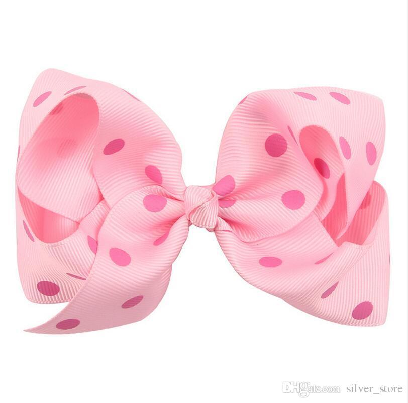 Brand new Wave point bow hair clip head ornaments children hair ornaments FJ095 a