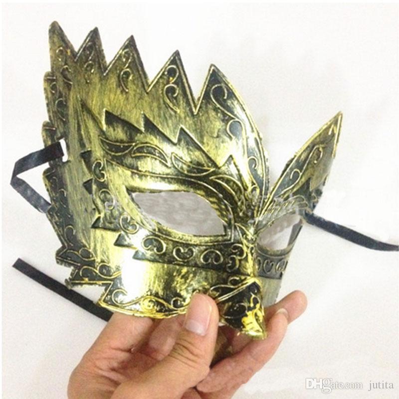 Clásico Retro griego Soldado romano Gladiador Máscara Partido Bola de la mascarada Mardi Gras Facial Máscara de ojos Hombres 2016