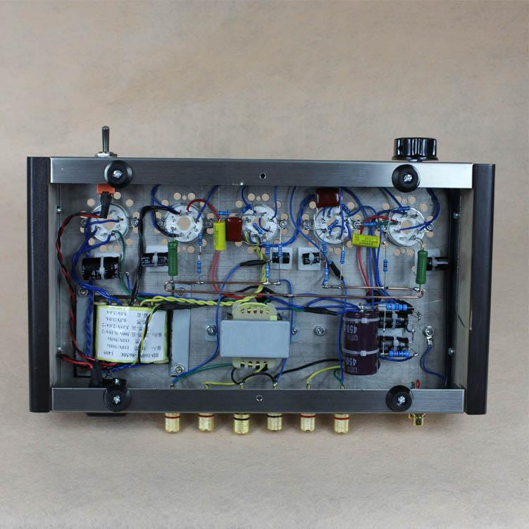 Freeshipping New DIY 6P3P Home Audio Tube Amplifier New Computer Case 6N8P Pure Full Set Tube Amplifier Assembly DIY Kits 8W+8W AC110V/220V