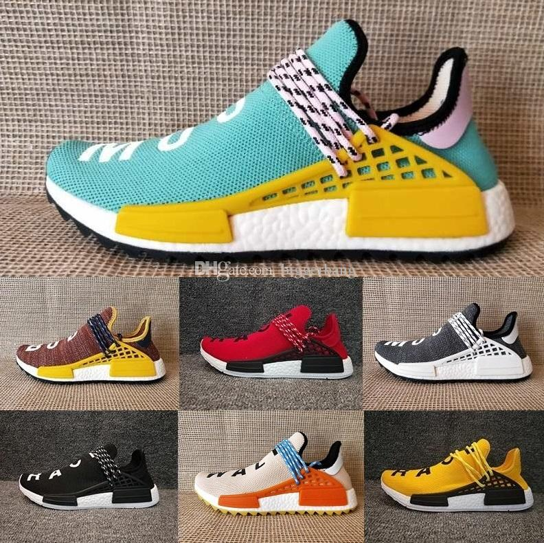 fa8b0d4e54ef1 Friends And Family NMD Human Race Factory Real Boost NMD Runner Pharrell  Williams Hu NMD TR Running Shoes Men Women Shoes Size Stability Running  Shoes ...