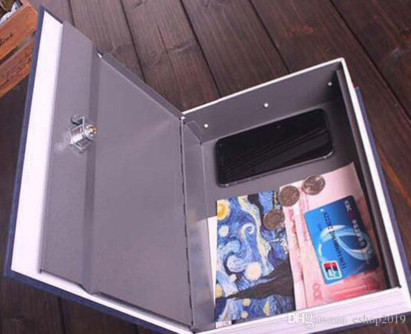Large Size Disguised English Dictionary Secret Book Safe Box with Password Lock Mini Strong Box for Money Safe