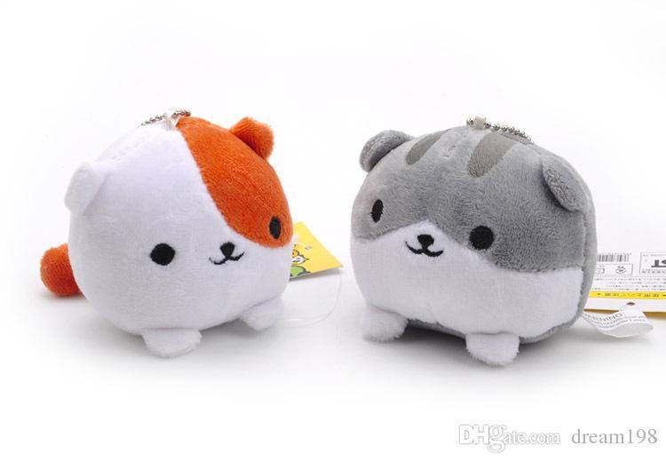 Neko Atsume Cat Mini Plush Dolls Backyard Cat Stuffed Soft Toys Kids Gift Pendants Keychain / Size: 8cm