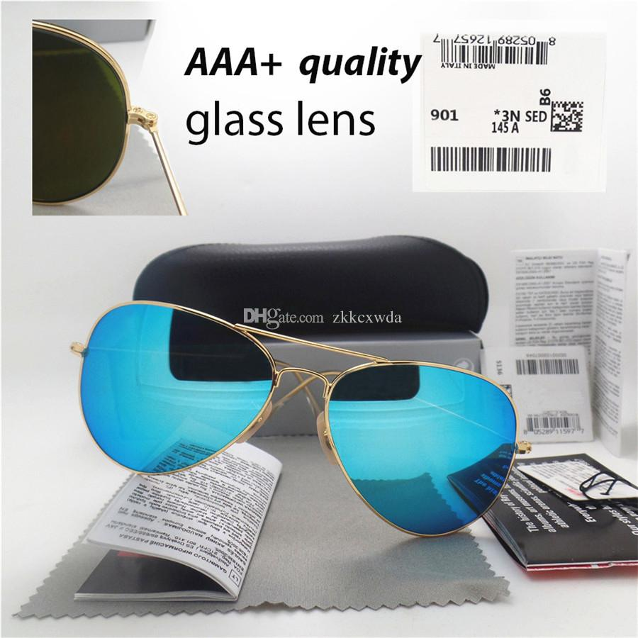 0433bb8179e AAAA+ Quality Glass Lens Fashion Men And Women Coating Sunglasses ...