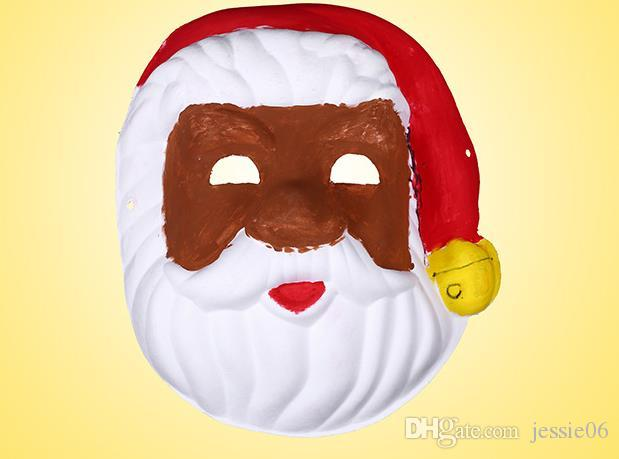 Blank White Masquerade mask Kids Adults Mardi Gras Christmas Halloween midnight costume DIY Half Full Face Masks Animal cartoon Mask