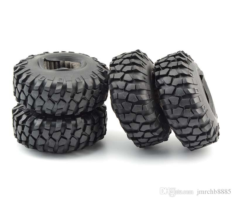4x Pneu de Borracha 108mm Pneus Esponja inserir RC 1:10 Rock Climbing Car