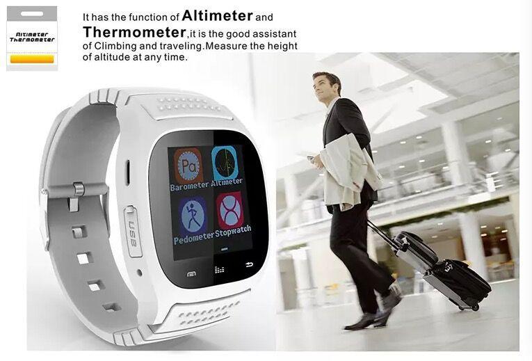 M26 Smartwatch Wirelss Bluetooth Smart Watch Telefon Armband Kamera Fernbedienung Anti-Alarm Barometer V8 A1 U8 Uhr für IOS Android