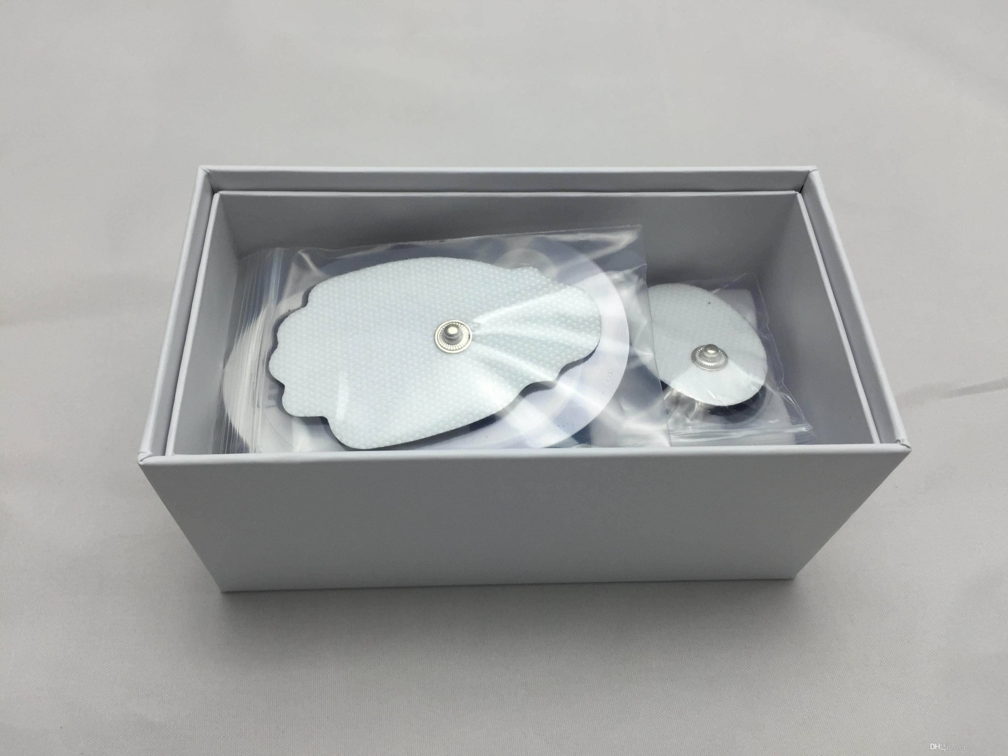 8-Modus-ZEHN-Einheit Mini-Digital-Massagegerät für elektronische Impulse Therapie Muskel-Ganzkörper-Akupunktur-Magnetfeldtherapie-Zehnermassage Silberblau