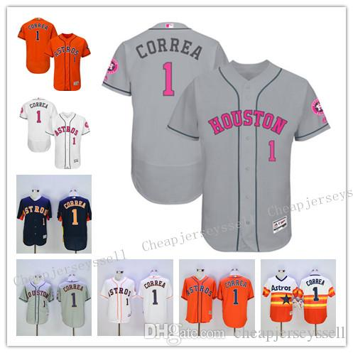 a01abab4281 mens houston astros 1 carlos correa orange flexbase 2016 mlb player jersey