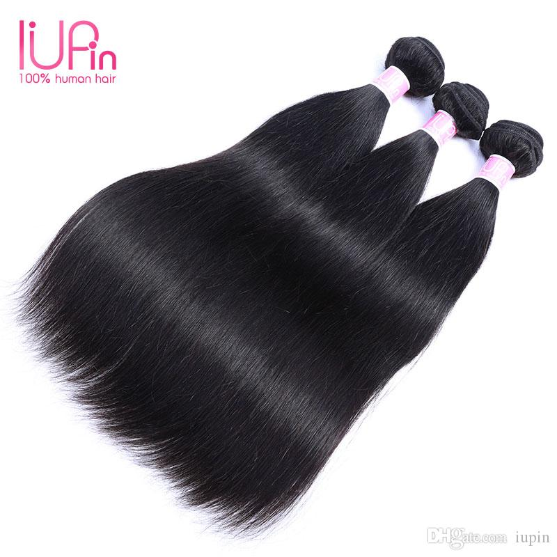 Beauty Supply 3 Bundle Straight Raw Indian Hair Natural Black Color