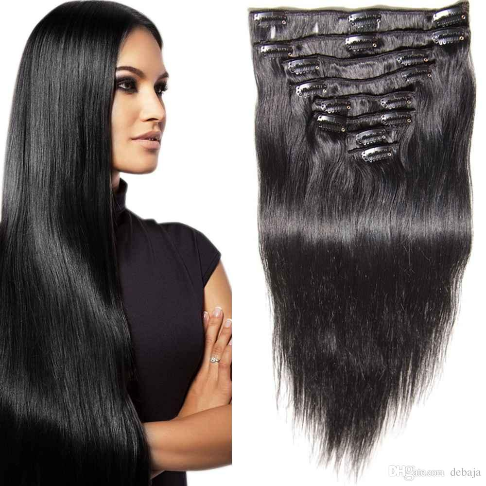 Brand New Clip In Hair Extension 16 Clips Brazilian Virgin Hair