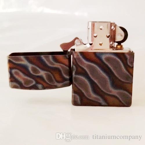 Manicotto della copertura della cassa del guscio di accenditore dell'olio della sigaretta del titanio TC4 1mm Materiale di spessore Superficie fiammata armatura leggera