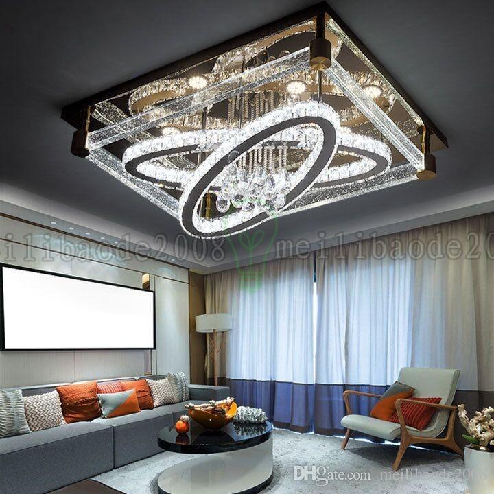 Be50 simple moderno creativo rectangular techo luz óvalo led lámparas de cristal sala de estar restaurante dormitorio hotel luces de techo iluminación
