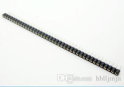 20 قطع 1x40 دبوس 2.54 2.54 ملليمتر قطاع القصدير pcb لوحة ic كسر 40pin رأس مقبس جولة أنثى دبوس رأس موصل