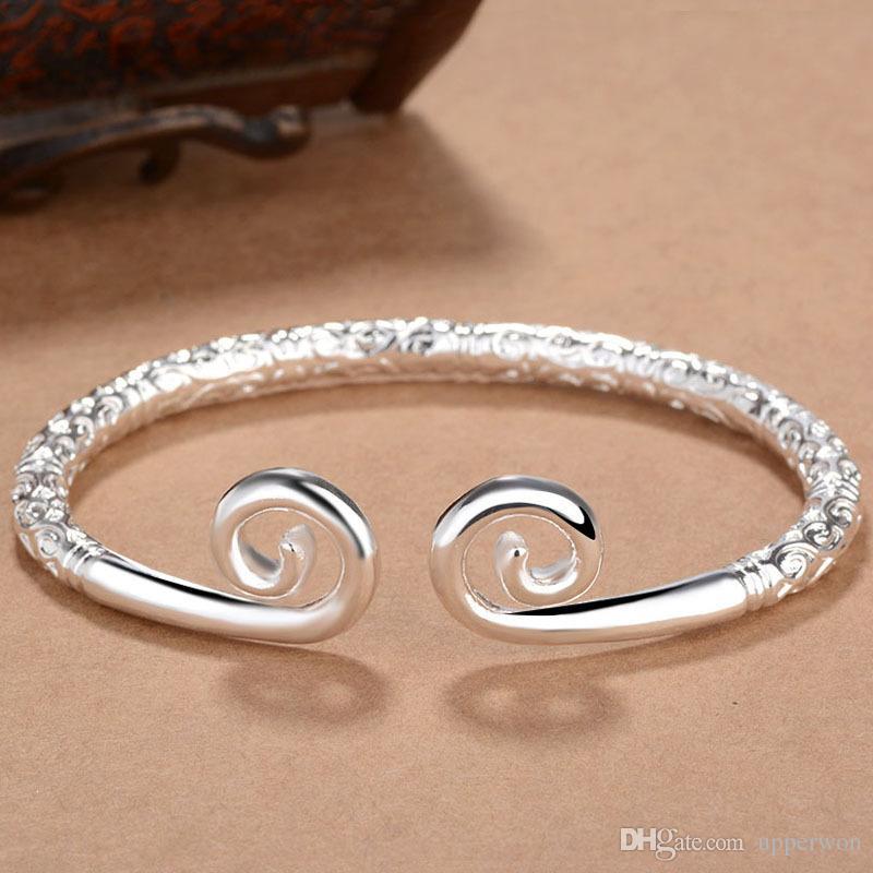 2017 handmade superiore di qualità Pagan vichingo braccialetti a cerchio d'oro braccialetti uomo e donne polsino regali