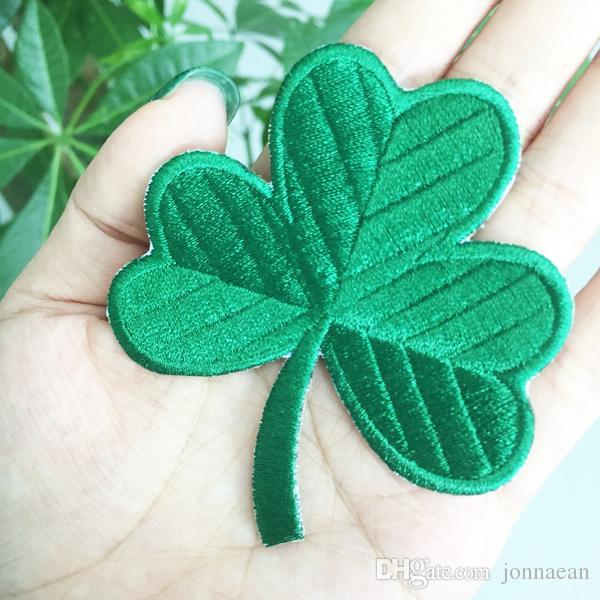 Classic Irish Clover Verde Scuro Ricamato Patch 3