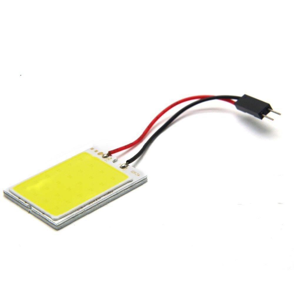 Büyük Promosyon T10 24 SMD COB LED Panel c5w Beyaz Araba Oto İçişleri Okuma Haritası Lamba Ampul Işık Dome Festoon BA9S 3 Adaptörü 12 V