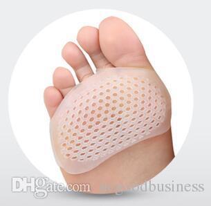 1 par tipo de funda frontal de gel de sílice almohadilla de nido de abeja ajustable contra el dolor almohadilla de suela transpirable zapatos de tacón alto de la mujer cuidado de los pies