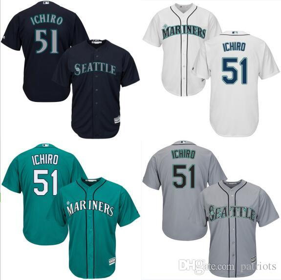a960ee5f8 ... discount seattle mariners 51 ichiro suzuki white majestic mlb mens  jersey throwback coolbase felxbase grey cream