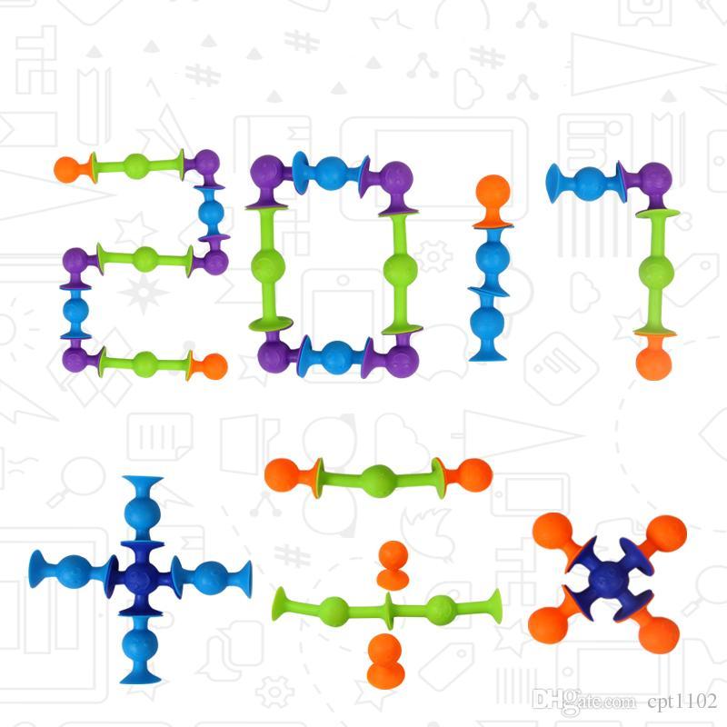 ديي ألعاب تعليمية الالتصاق squigz الشواذ لعبة الإبداعية الجوز لعب السيليكون مصاصة اللبنات