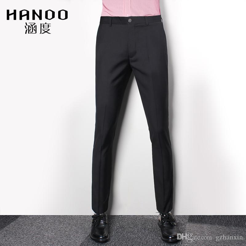 2017 2017 Black Men Slim Fit Suit Business Pants Gentleman Dress ...