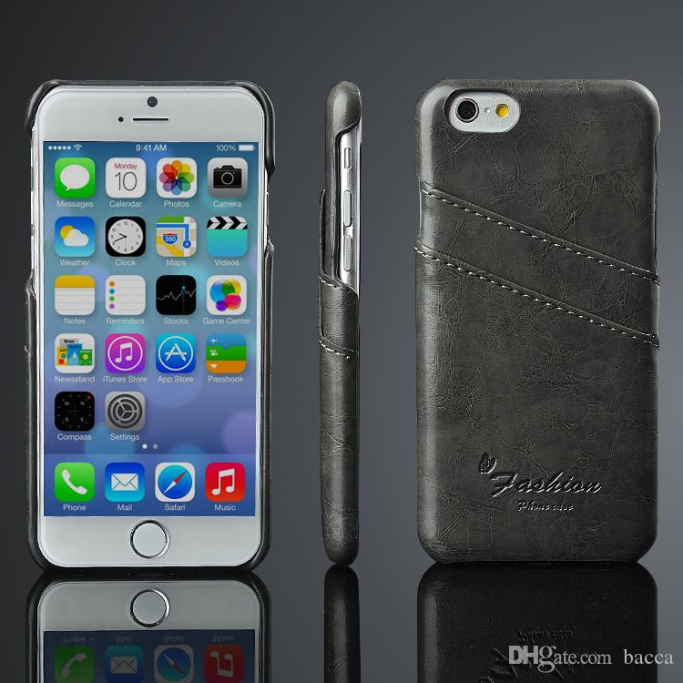 for iphone x 8 7 6 business style luxury leather case fashion wallet