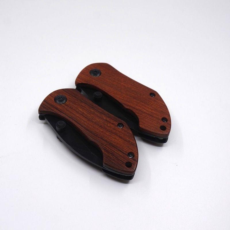 Boker DA33 Pocket Folding Blade Knife EDC Mini Pocket Knife Wood Handle Camping Survival Knives With Back Clip Hiking Tools Best Gift