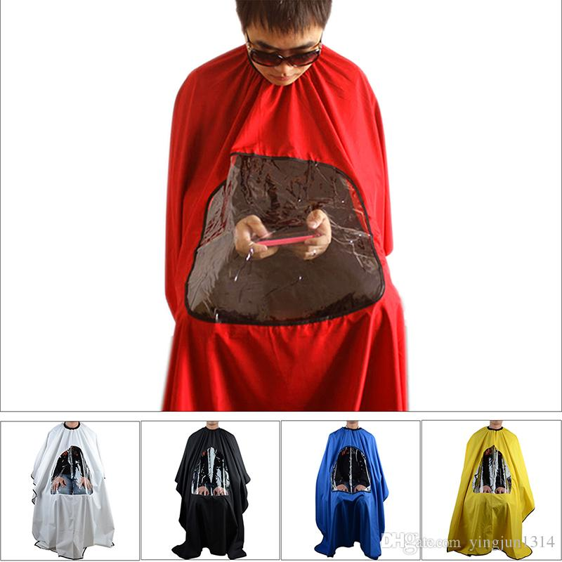 Professional Salon Barber cape Hairdresser Hair Cutting Gown cape with Viewing Window Apron Waterproof Clothes Hair Styling