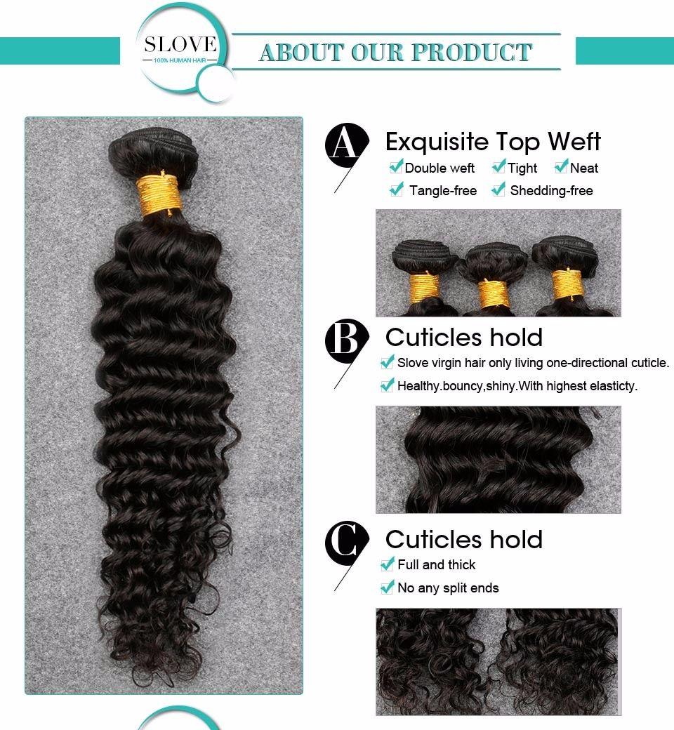 8A capelli brasiliani dell'onda profonda 3 pacchi Slove Rosa Queens Hair Company Bagnata ed ondulata Vergine brasiliana Capelli brasiliano onda profonda Hai