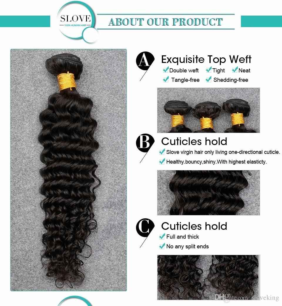 8A Deep Wave Brazilian Hair 3 Bundles Slove Rosa Queens Hair Company Wet And Wavy Virgin Brazilian Hair Brazilian Deep Wave Hai