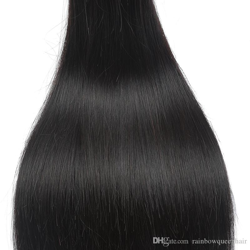 Brazilian Straight Hair Unprocessed 8A Mink Brazilian Virgin Silk Straight Human Hair Extension Peruvian Malaysian Indian Hair Bundles Deals