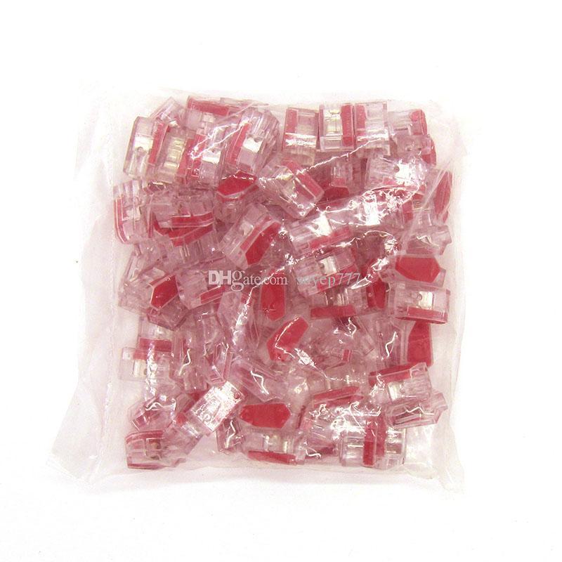 50 teile / los Quick Wire Connector 2 pin Kabelklemmenblock Stecker PC-252 / PC252-CL / PC252X-CL transparent
