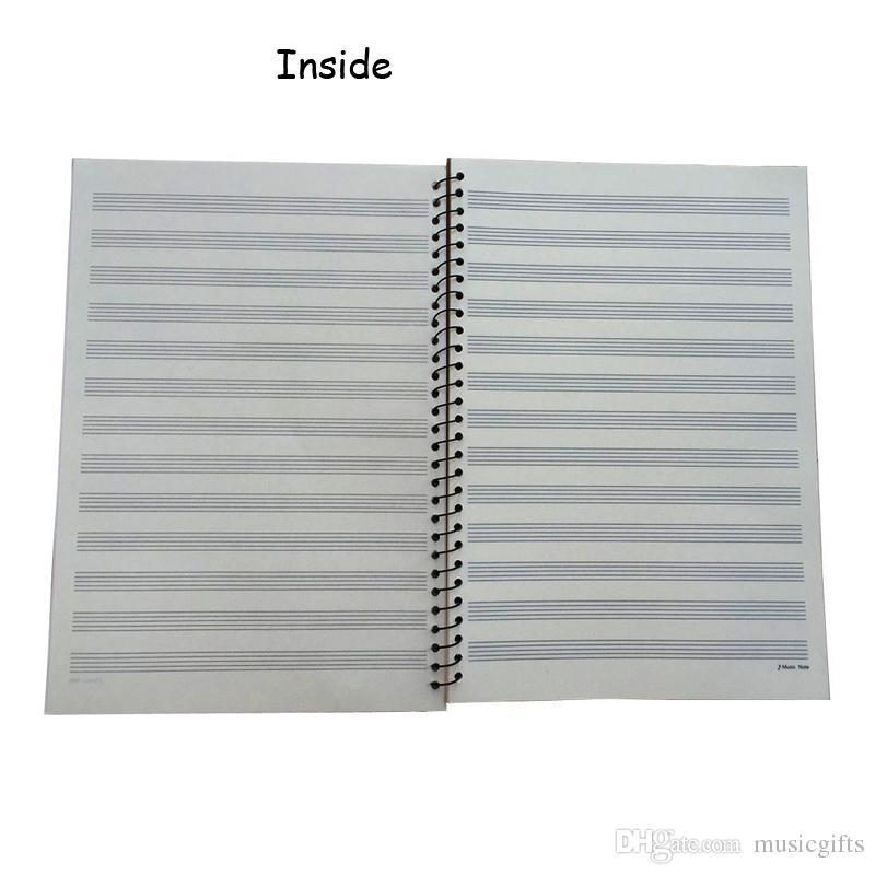 Полезные ноты ноутбук музыкальный персонал бумага клавиатуры шаблон 50 страниц