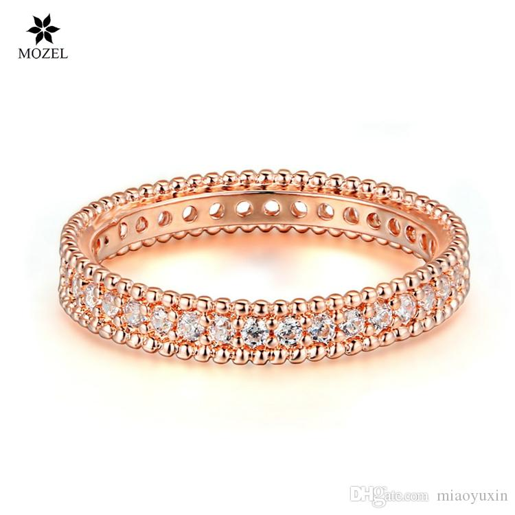 2018 Wholesale Mozel Fashion Jewelry Rose Gold Plated Simple Classic