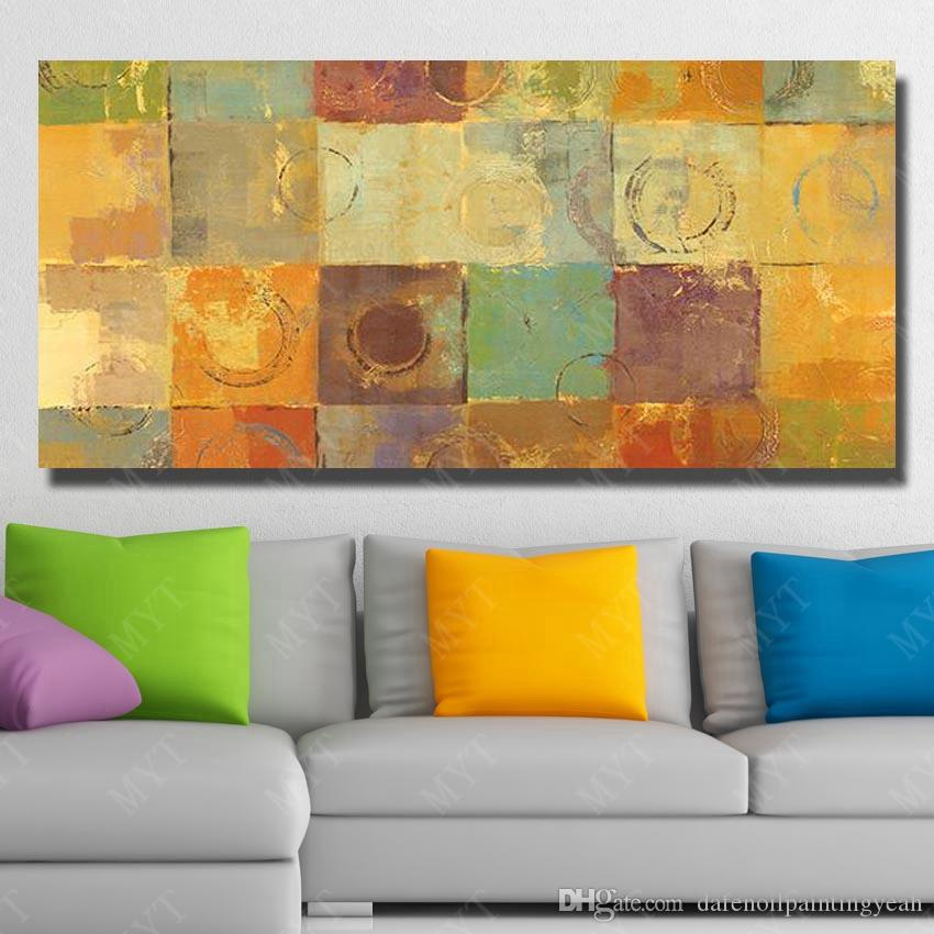 Nice Yellow Oil Painting Pictures for Living Room Bedroom Wall Decor Hand Painted Modern Oil Painting on Canvas New Wall Art No Framed