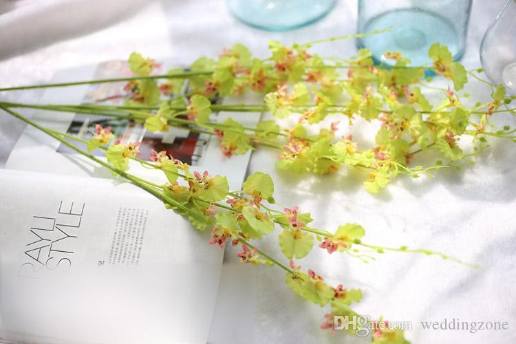 Artificial Flowers Oncidium hybridum 98CM/38.6inch Phalaenopsis for Party House Wedding Bouquet Decoration