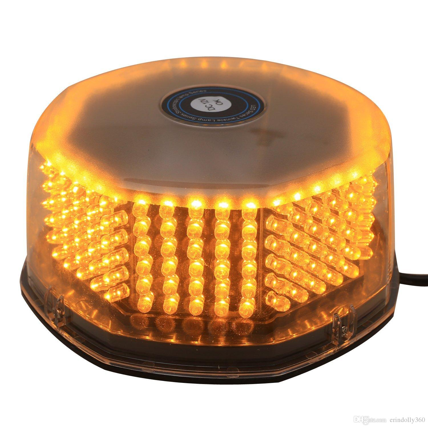 Bright 240 LED Truck Vehicle Car Roof Top Flash Strobe lamp Emergency Warning Hazard Warning Light with Magnetic Pods Amber