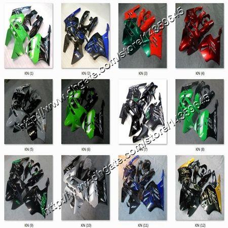 8Gifts+ blue flames black ABS article zx9r 1994 1995 1996 1997 motorcycle fairing for Kawasaki Ninja