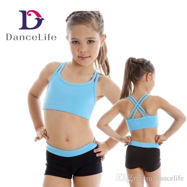 911426d986 2019 C2426 Girls Double Strap Ballet Crop Top Wholesale Camisole Girls  Ballet Tops Ballet Bra Tops From Dancelife