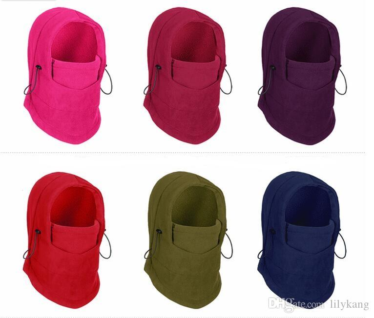 30263cd498b 2019 Face Mask Unisex Fleece Winter Balaclava Swat Ski Motorcycle Neck Face  Mask Hood Hat Helmet Cap Cycling Caps From Anjuen