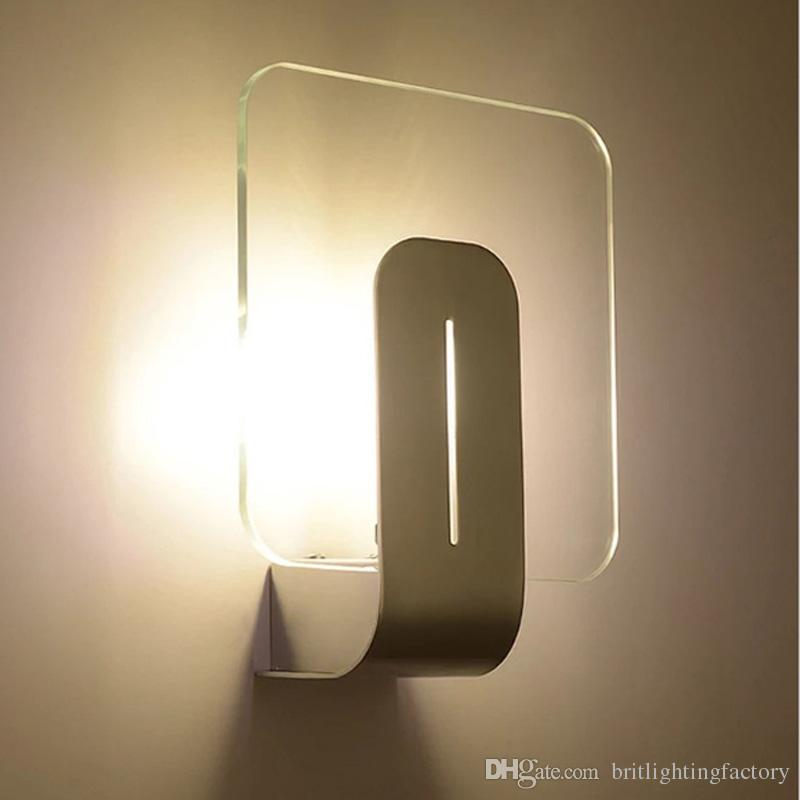 2018 Led Lights For Home Solar Modern Style Bedside Wall Lamp Bedroom Stair Indoor Photography Aisle Night Lighting Bathroom Mirror From