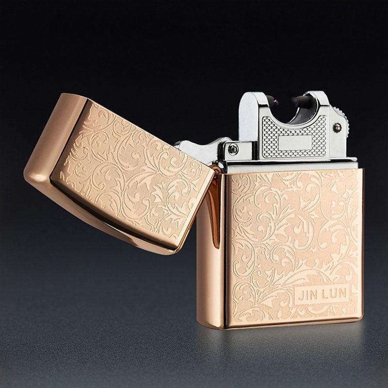 JINLUN 201 New USB Rechargeable Electronic Cigarette Smoking Windproof Lighters torch usb Arc lighter hot whole