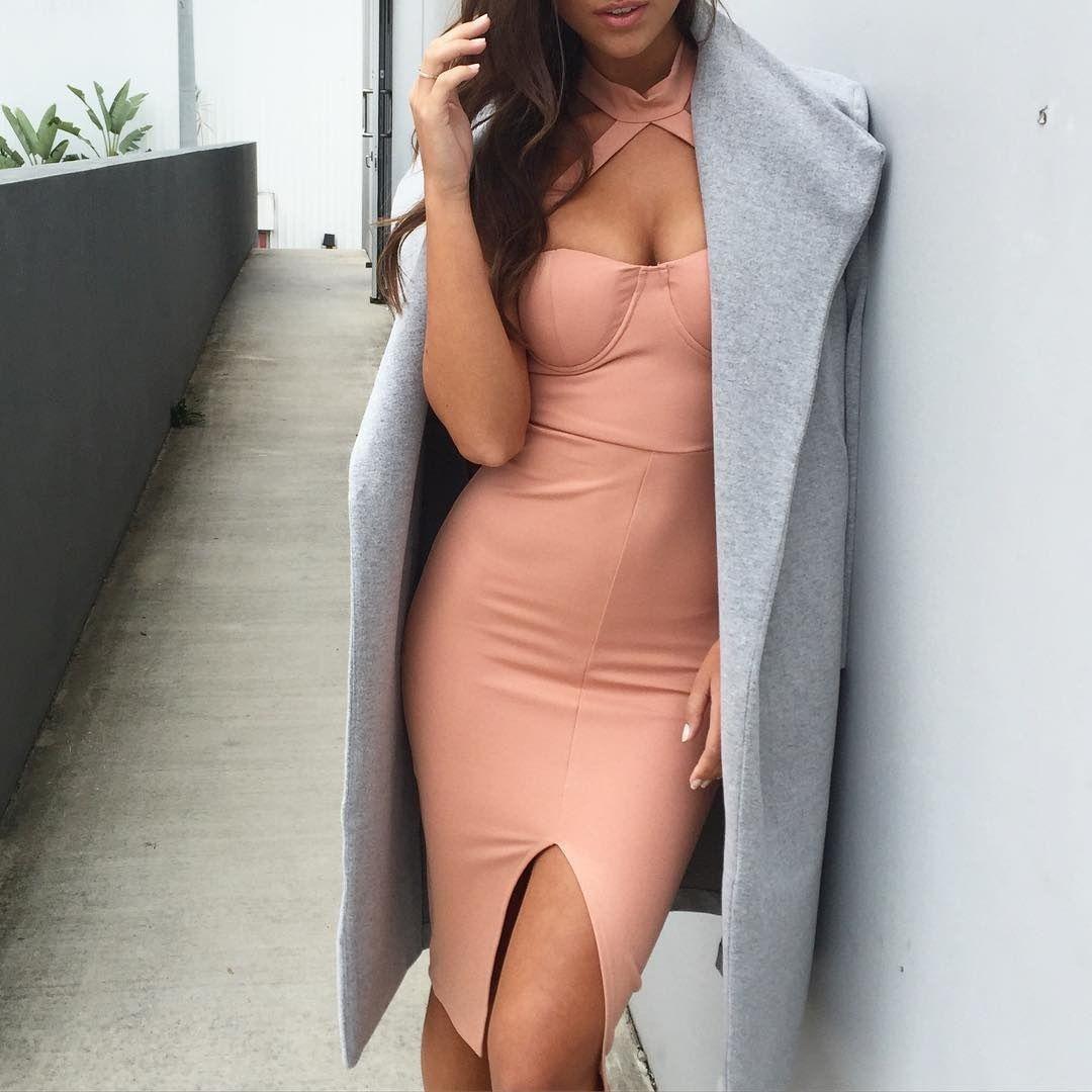 Fashion women sexy & club dress lady pencil dress halter blackless slip skirts summer bodycon night or party wear OL-8685