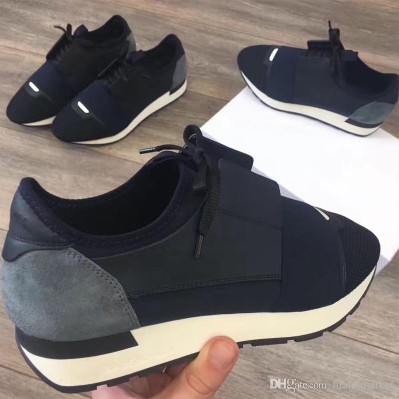 2020 Schuhe Rennen sneaker chaussure femme Tropfen-Verschiffen-Modedesigner-Frauen-Schuhe Mann beiläufige Turnschuh New Leder Mesh-Trainer US 5-12