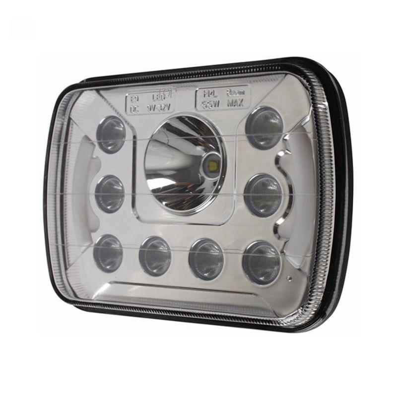 7x6 7x5 LED Phare H4 Light 55W pour Jeep Wrangler YJ Cherokee Comanche 6054